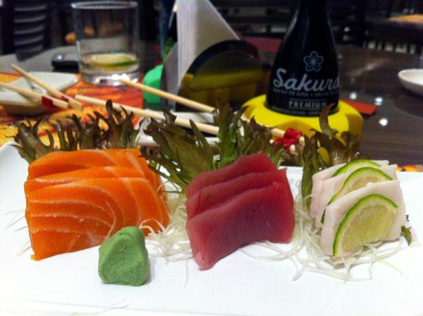 Sashimi de Salmão, Atum e Peixe-Prego