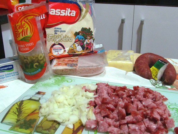 Ingredientes da Pizza de Frigideira