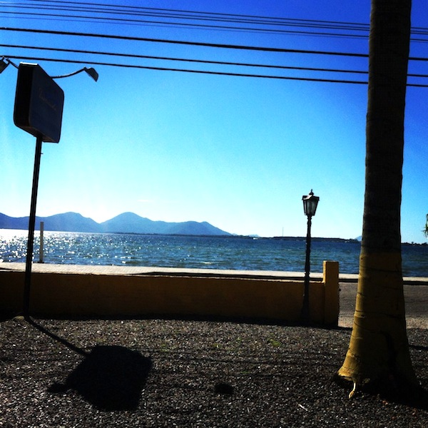 Vista do restaurante: Lagoa da Conceição
