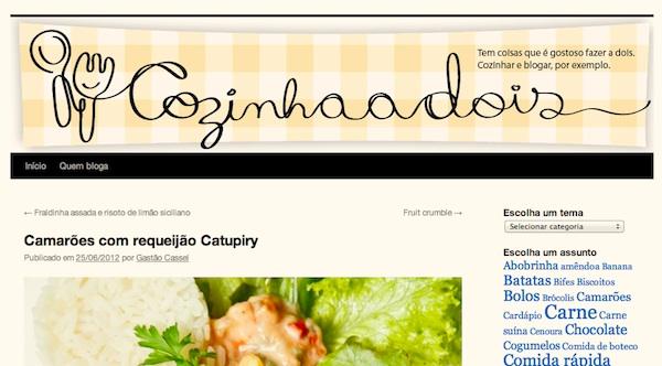 Cozinha a Dois, blog de Soninha e Gastão