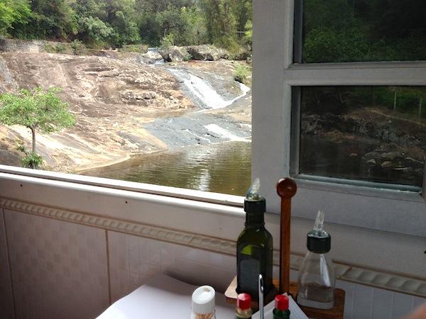 Vista do restaurante: Cachoeira de São Miguel