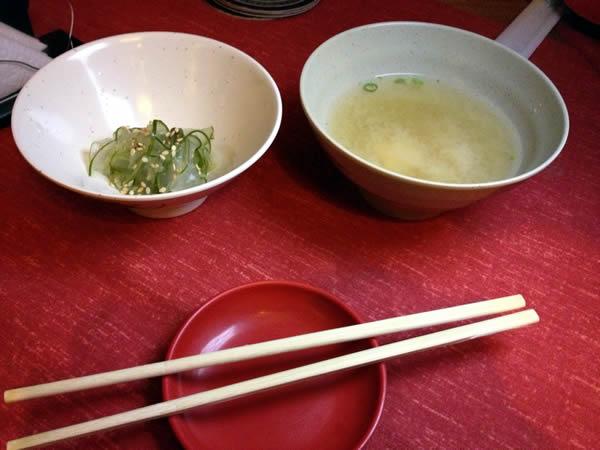 Sunomono e Missoshiru